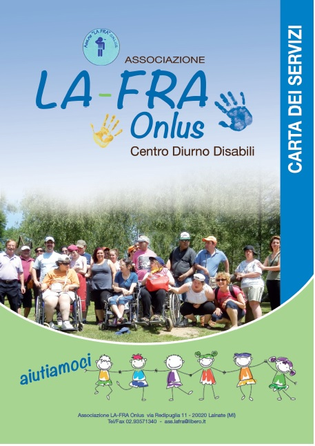 La-Fra non-profit Association for people with disabilities, Services Charter - graphic and editorial restyling