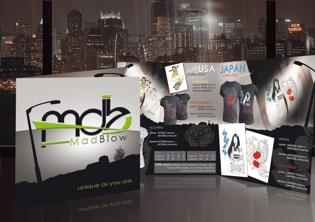 MadBlow - leaflet promotional t-shirt