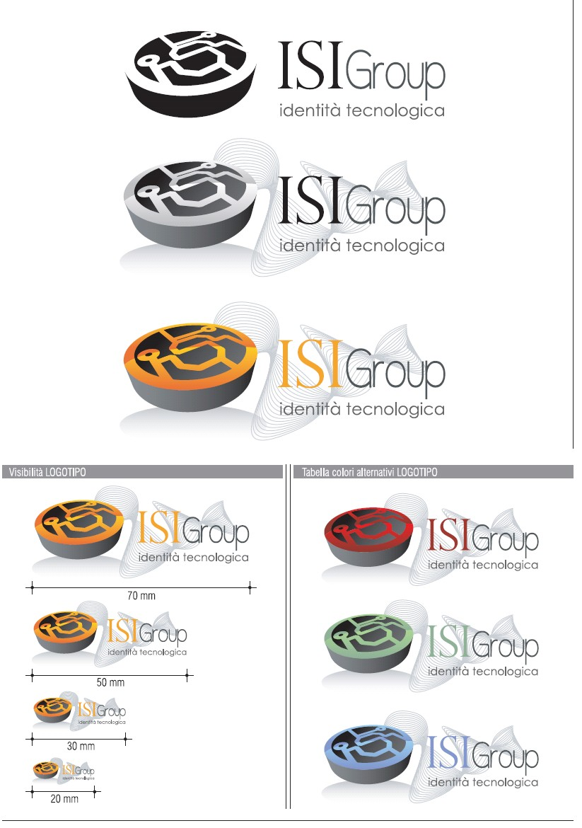 ISI Group corporate logo - graphic creation