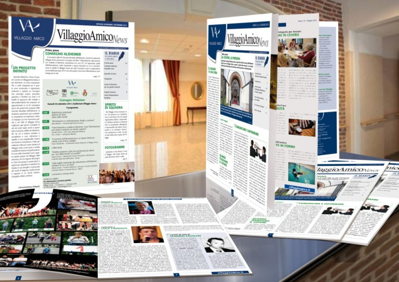 VillaggioAmicoNews, periodical house-organ - drafting, paging, printing and distribution